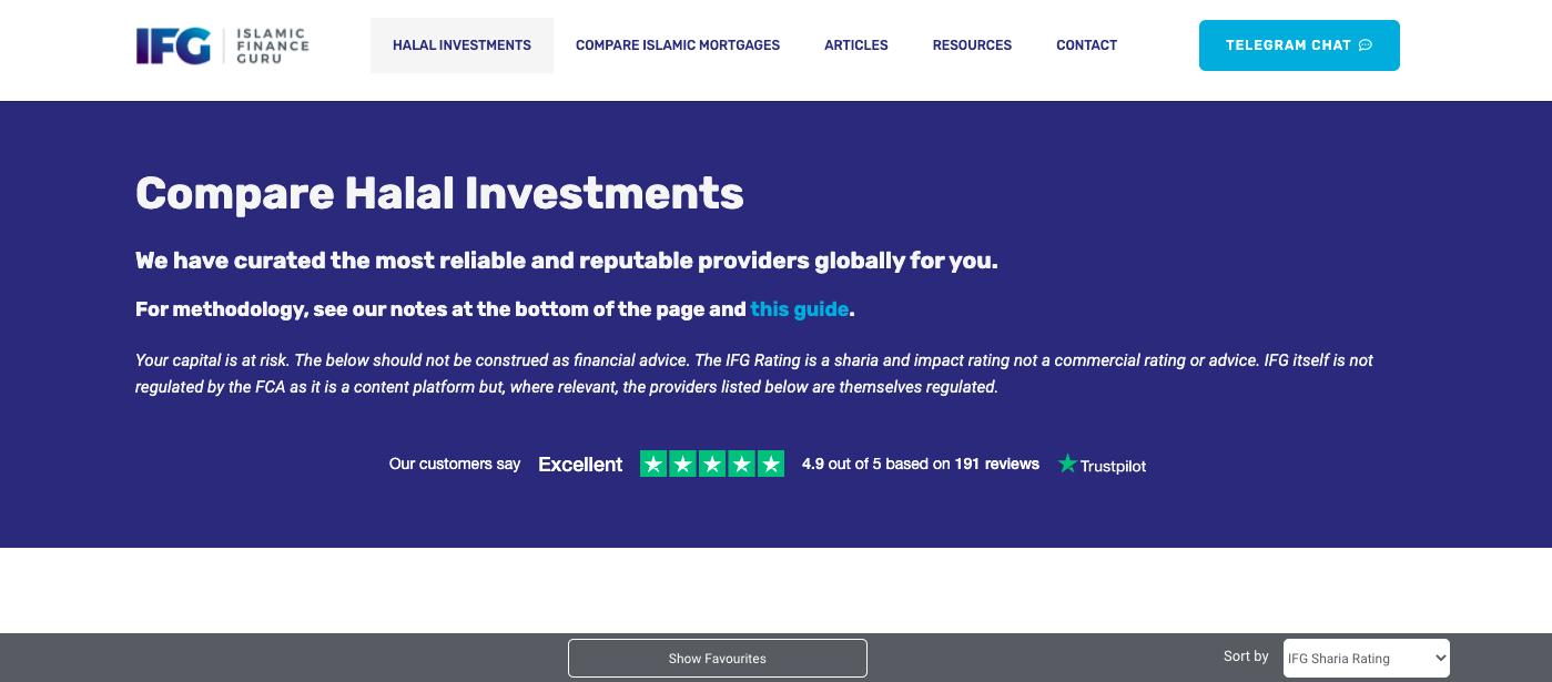 ifg website screenshot